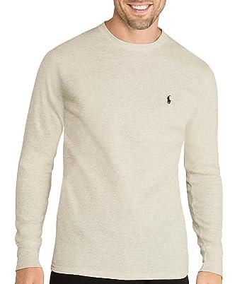 90e265c8 Polo Ralph Lauren Men's Waffle Knit Crew Neck Shirt at Amazon Men's  Clothing store: