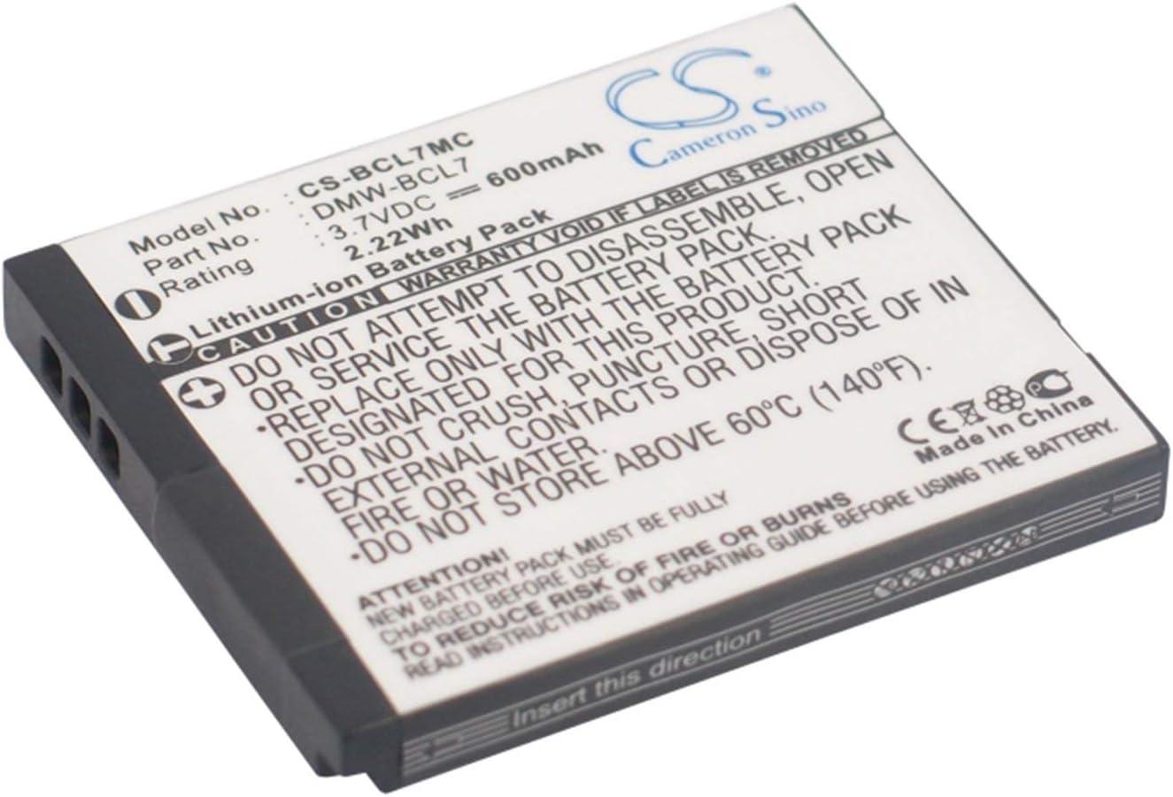 BATTERIA 600mAh 3.7V per Panasonic Lumix DMC-SZ3 DMC-SZ3V DMC-SZ9 DMC-XS1