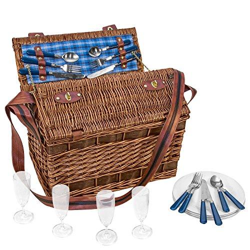 Weiden-Picknick-Korb-Summertime-fr-4-Personen-604032