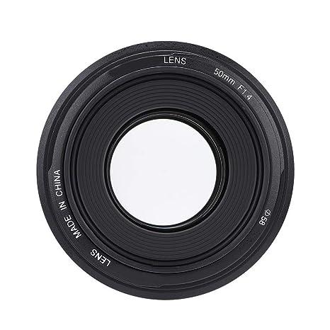 Lente de cámara f1.4 de 50 mm Lente de Apertura Grande AF/MF para ...