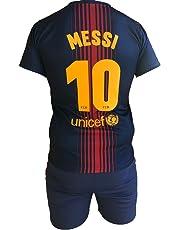 Conjunto Equipacion Camiseta Pantalones Futbol Barcelona Lionel Messi 10  Replica Autorizado 2017-2018 Niños Adultos 043d3a6908a