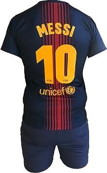 Conjunto Equipacion Camiseta Pantalones Futbol Barcelona Lionel ...