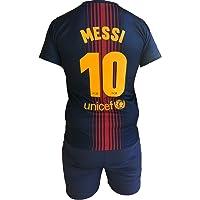 FCB Completo Barcellona Lionel Messi 10 Replica Autorizzata Barcelona Ufficiale Bambino Adulto 2017-2018