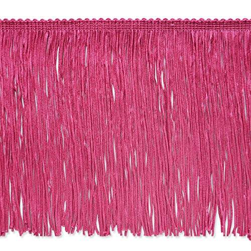 - 6in Stretch Chainette Fringe Trim Hot Pink