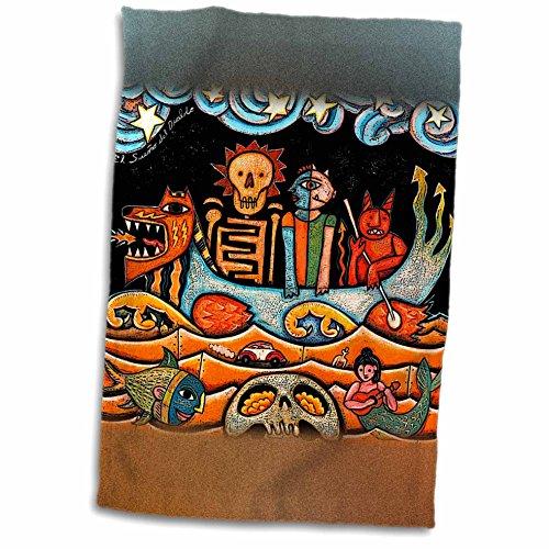 3dRose Paul Honatke Designs Prints - The Devil s Dream folk art (Mexican Folk Art)