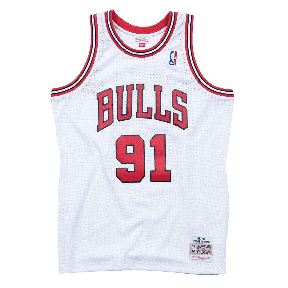 Amazon.com   Mitchell And Ness Rodman White Bulls  91 Swingman Jersey  (BA84SM-CBUWC8P)   Clothing b658a906a