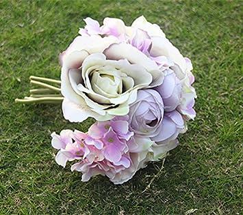 Sharplace Kunstliche Rose Hortensie Blumenstrauss Romantische