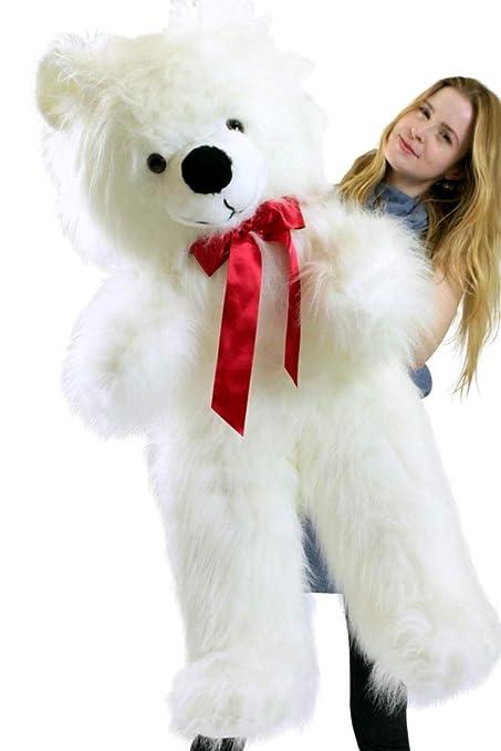 Amazon Com Big Plush American Made Giant White Teddy Bear 46 Inch