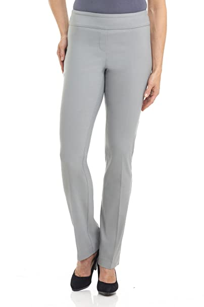 cc709238abc Rekucci Ease In To Comfort Fit Straight Leg Pant With Tummy Control  (6SHORT