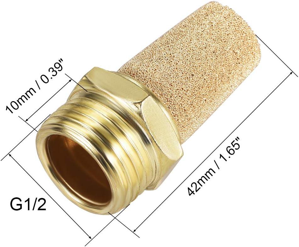 Auspuff Schalld/ämpfer Muffler goldfarben 10 St/ück 1//4 PT Gewinde Pneumatik