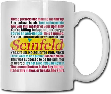 Seinfeld Quotes White Coffee Mug Gift 11oz /& 15oz New
