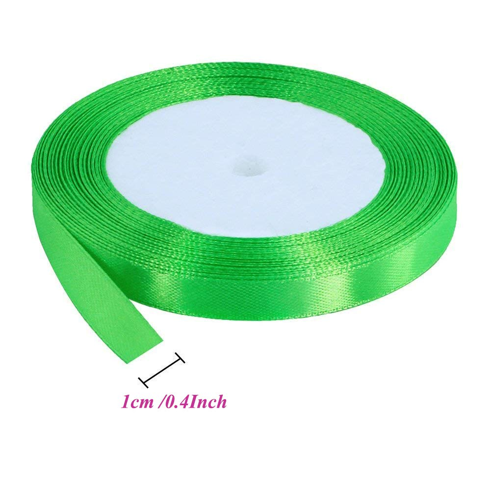 Colore 15/mm x 25/m Club Green Intessuta in Organza Rosa