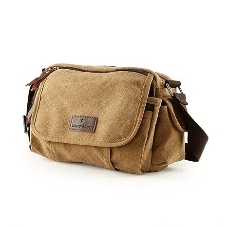 Amazon.com   Gumstyle Mens Vintage Canvas Small Messenger Shoulder Bag Crossbody Sling School Bags Satchel Black   Messenger Bags