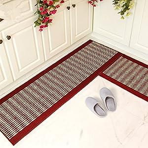 extraordinary washable kitchen rugs | Amazon.com: Ustide Kitchen Rug Set,kitchen Floor Rug ...
