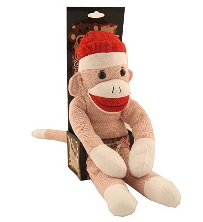 Amazoncom The Original Sock Monkey Pink Stuffed Animal Plush