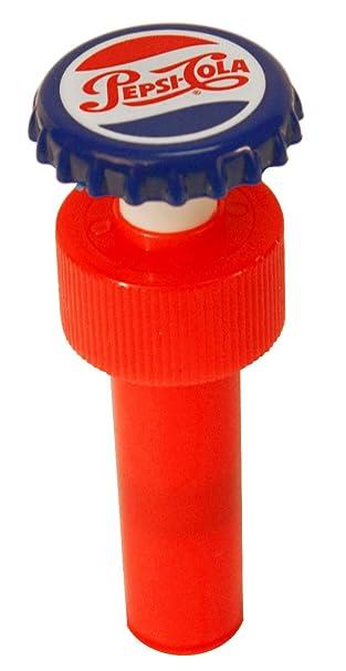Jokari Pepsi Heritage Logo Fizz Keeper Pump Cap Soda Bottle