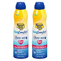 Banana Boat Continuous Spf#50+ Spray 6 Ounce Sun Comfort (177ml) (2 Pack)