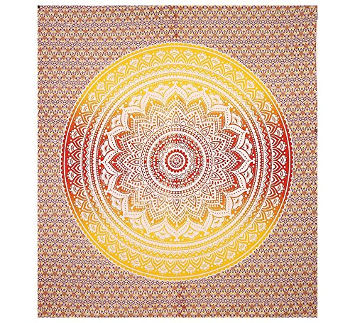 Red Yellow Ombre Tapestry Mandala Tapestry Wall Hanging Hippie