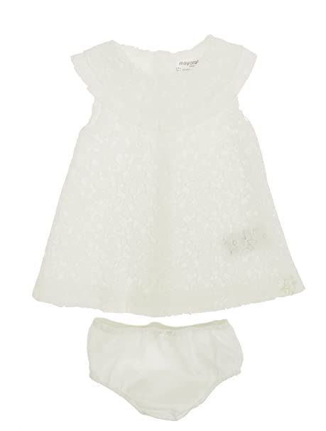 Mayoral 28-01842-015 - Vestido para bebé niña 6-9 Meses Crudo