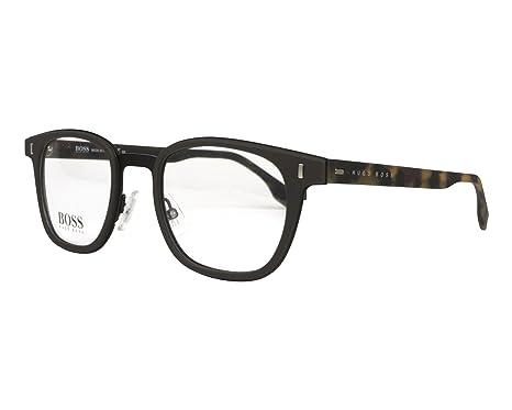 Amazon.com: Hugo Boss BOSS 0969 YZ4 - Gafas de sol cuadradas ...
