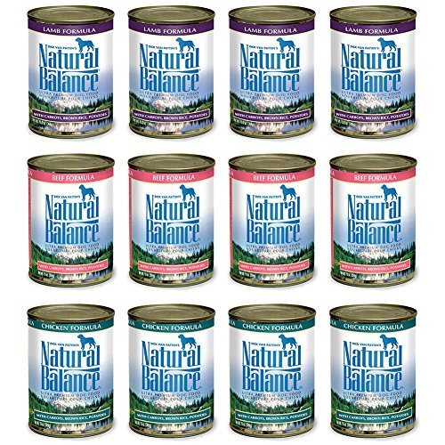 - Natural Balance Dog Food Variety Pack 13 oz Cans: (4) Lamb Formula, (4) Beef Formula, (4) Chicken Formula (4 (12 Pack Bundle)