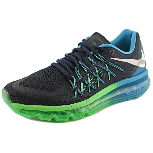 da1e5a0ddf Nike Air Max 2015 Men s Running Sneaker Dark Obsidian/White-bl Lgn-psn Grn  7 D(M) US: Buy Online at Low Prices in India - Amazon.in