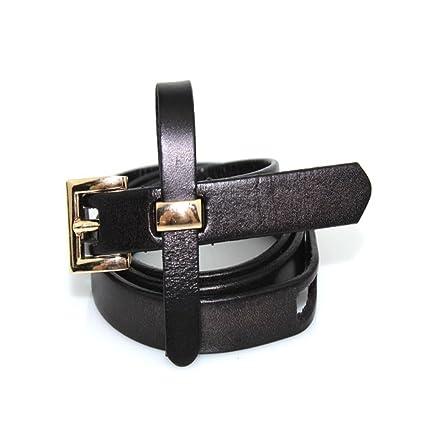 8fe59b3cc Banda de Cintura para Mujeres niñas Cinturón clásico de Cuero Genuino para  Mujer Apuesto para Pantalones de Vestir ...