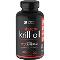 Antarctic Krill Oil (500mg) with Omega-3s EPA, DHA and Astaxanthin (120 Mini-Softgels)