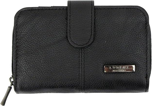 Lorenz señoras bolso de cuero / cartera de la cremallera alrededor - Varios Colores
