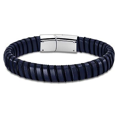 aba7476d9e6e Lotus - LS1879-2 3   Bracelet Homme Cuir et Acier - Bleu  Amazon.fr  Bijoux