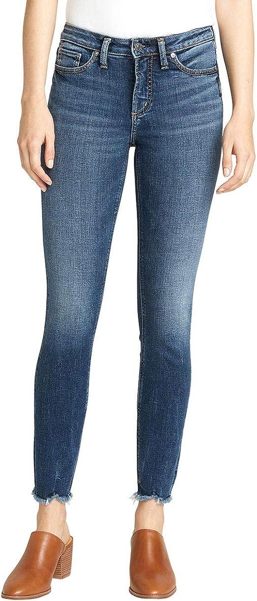 Silver Jeans Co. レディース 最も望まれるミッドライズ スキニーフィットジーンズ