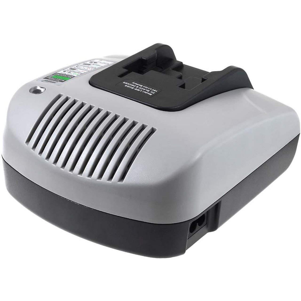 Powery Cargador de batería con USB para Black & Decker ...