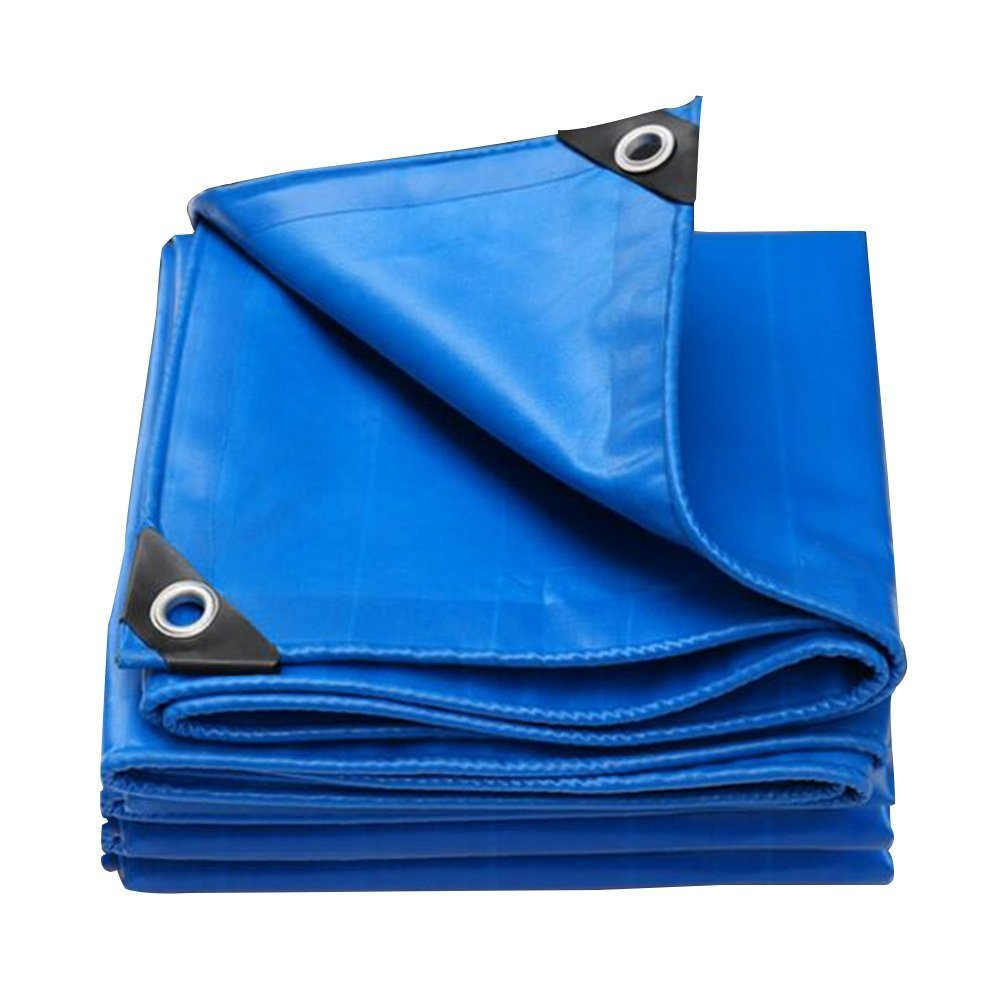 Yuke Wasserdichte Leinwand Sonnencreme Dickes Tuch Regenschutz Tuch Plane Zelt Markisen Blau (550g   m²) (größe   3x3m)