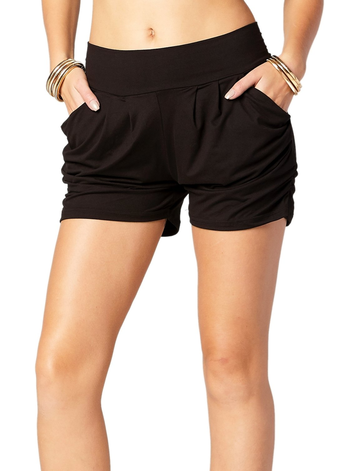 Premium Ultra Soft Harem Shorts with Pockets - 40