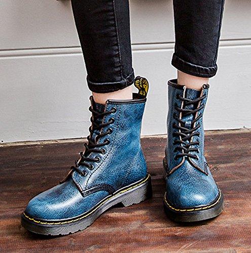 Zapatos De Tacón Alto Con Cordones Planos De La Bota De Punta Estrecha Martin Botas Fashion Para Mujer