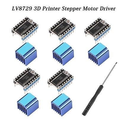 MKS GEN L//SKR Control Board for 3d Printer Parts PoPprint TMC2208 V2.1 New Upgraded /Silent/Stepper Motor Driver Suit MKS GEN V1.4 Pack of 5pcs