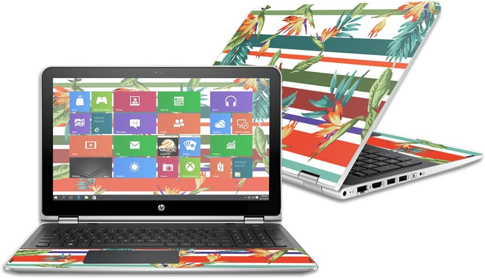 MightySkins Skin Compatible with HP Pavilion x360 15.6 2016 wrap Cover Sticker Skins Tropics