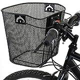 PedalPro Metal Mesh Quick Release Bicycle Basket