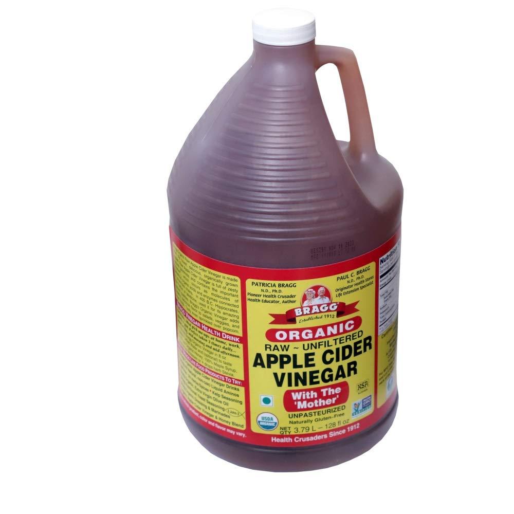 Organic Raw Apple Cider Vinegar Unfiltered Bragg 1 Gal (128oz) Liquid by Bragg (Image #5)