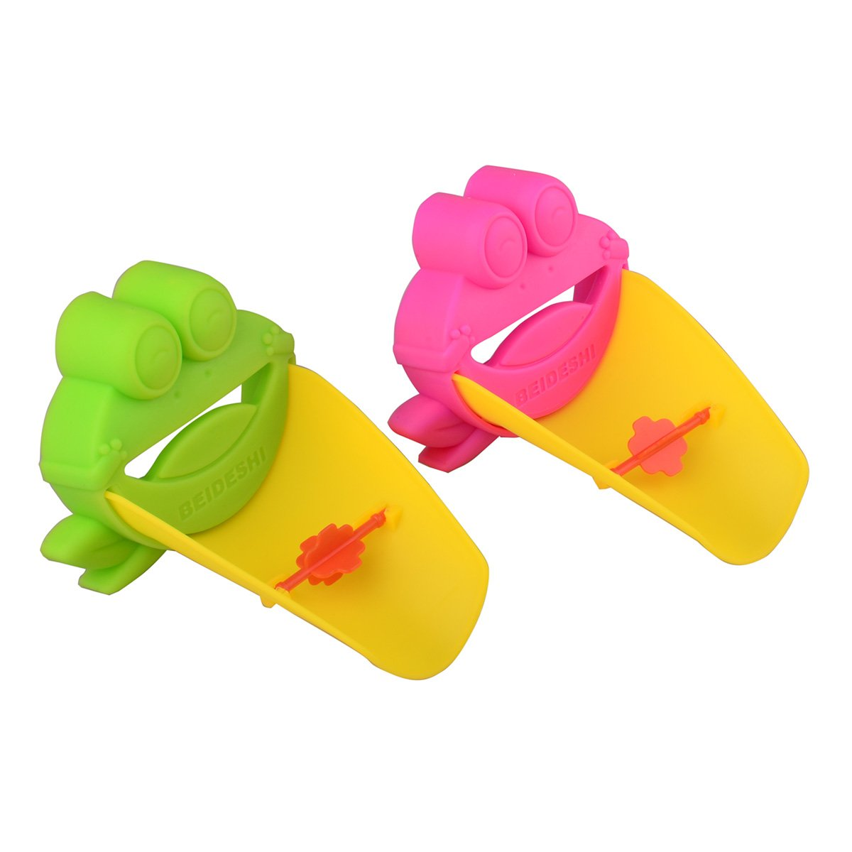 Zelta 2 Pieces Frog Faucet Extender with Diverter Water Tape Extension for Toddlers Kids Children Zeltababy