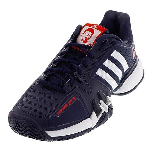 best service 8d512 63ced Adidas Barricade 7 Novak Pro Men s Tennis Shoe Core Navy White Red (8