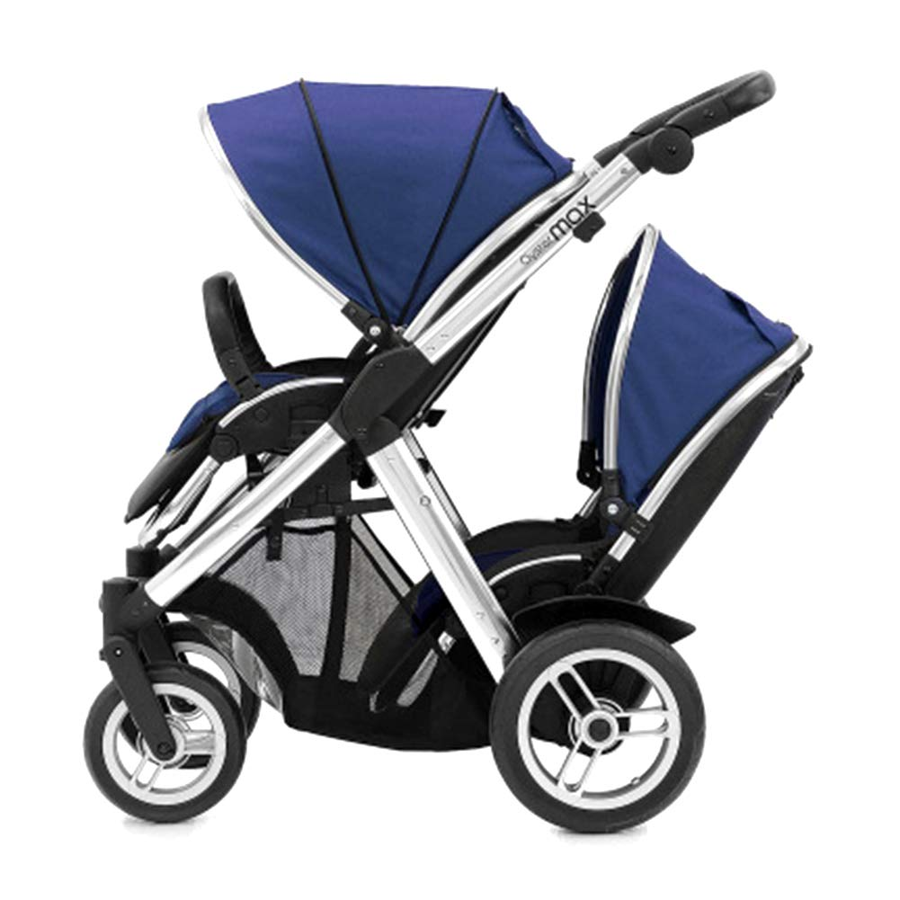 SJZC Kinderwagen Kombikinderwagen Baby Stroller Babybett Stubenwagen Babyschale Blau