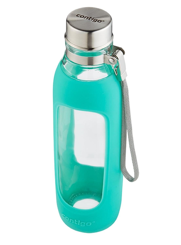 Contigo Purity Glass Water Bottle 20Ounce Greyed Jade Amazonin