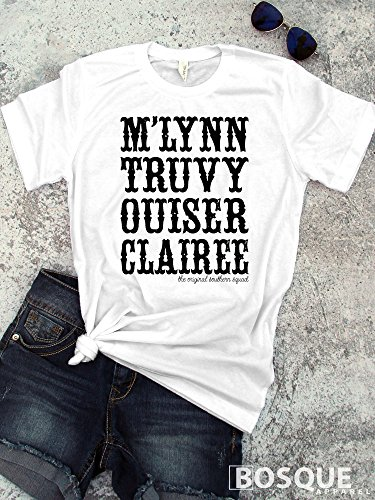Steel Magnolias movie inspired Style T-Shirt M'Lynn, Truvy, Ouiser, and Clairee Country Southern Style Tee - Ink Printed by Modern Vector