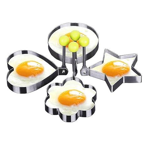 littlegrass molde de huevo frito Shaper anillos acero inoxidable diferentes formas corazón, círculo, Star
