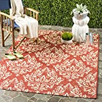 "Safavieh Courtyard Collection CY6930-28 Red and Cream Indoor/ Outdoor Square Area Rug (67"" Square)"