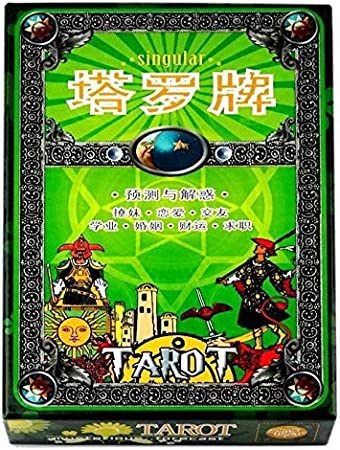 ZJYSM Casual Puzzle Singular Tarot Adivinación Fiesta Solitario Juego De Mesa Juego De Mesa Clásico Juego de Cartas: Amazon.es: Hogar