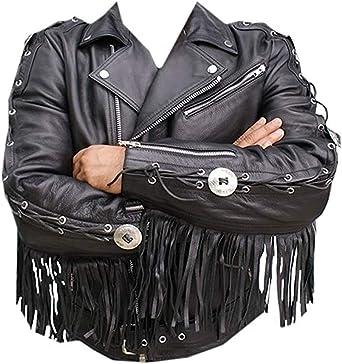 Xs-7xl Classyak Western Indian Real Leather Cowboy Jacket