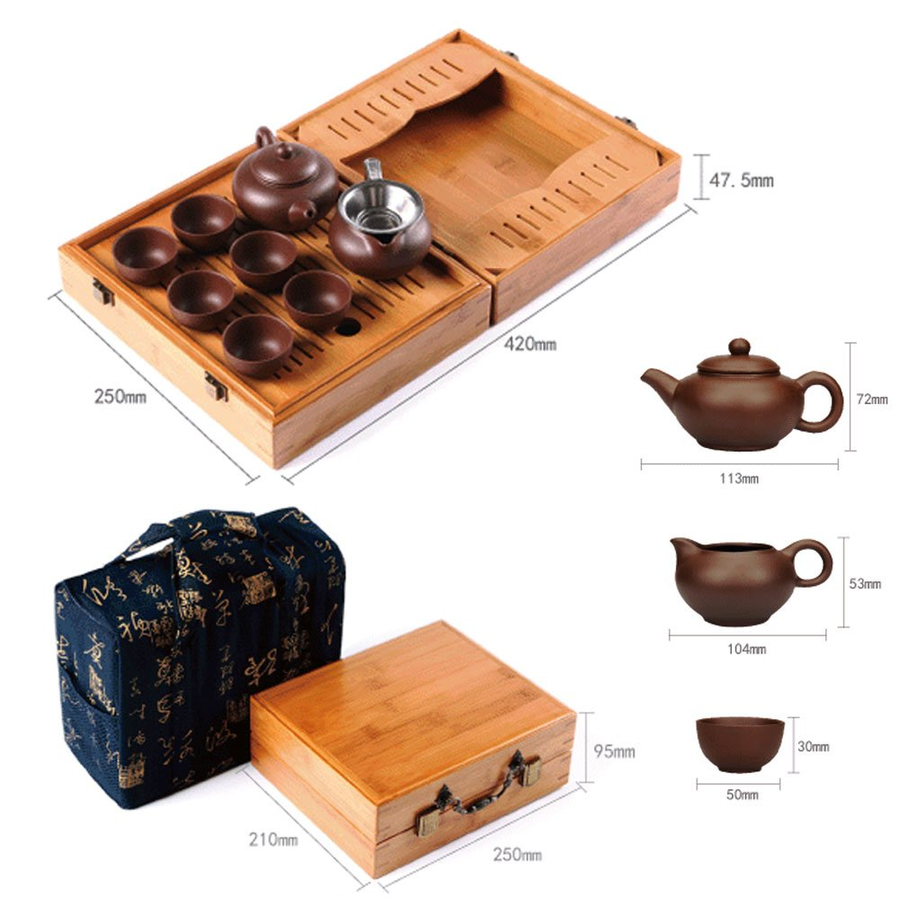 Home tea(TM) Chinese zisha Kungfu Tea set portable outdoor travel tea set by Home tea (Image #6)