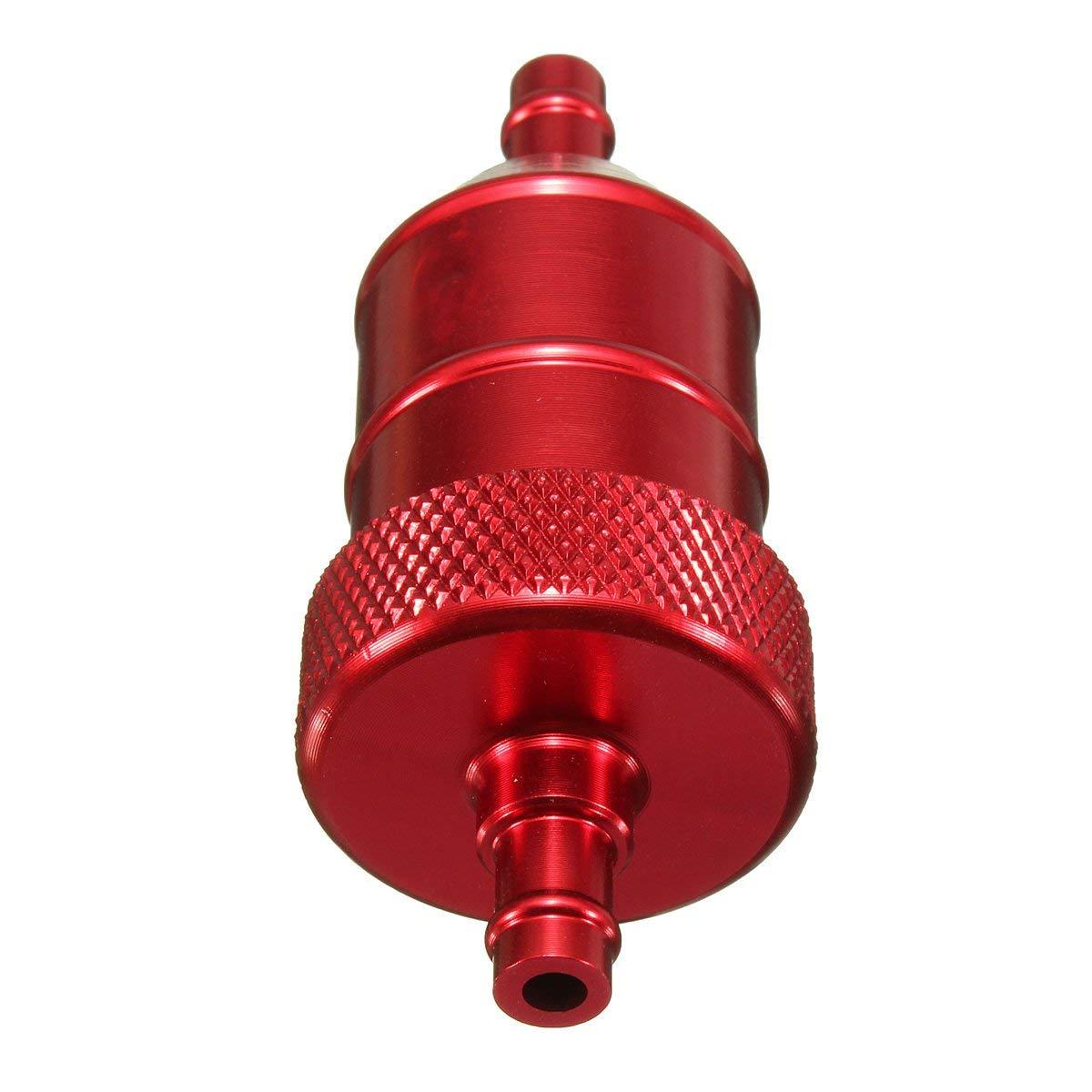 Filtro de combustible de moto - SODIAL(R)filtro de combustible CNC de scooter de quad de motocicleta de 6mm 1/4